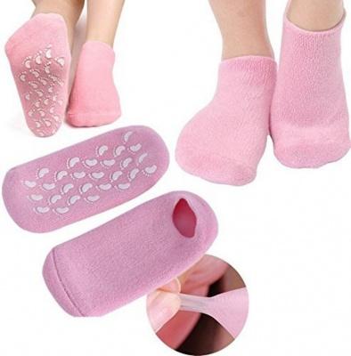 Pink Full Spa gel Heel Silicone Socks for heel repair - All Weather