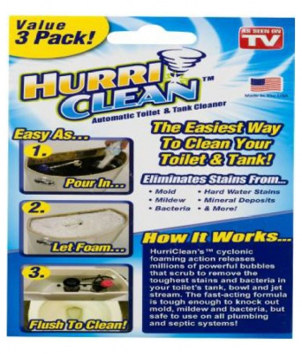 HurriClean automatic toilet cleaner 3pack
