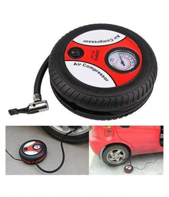 Portable DC12V Tire Inflator Mini Car Compressor Pump
