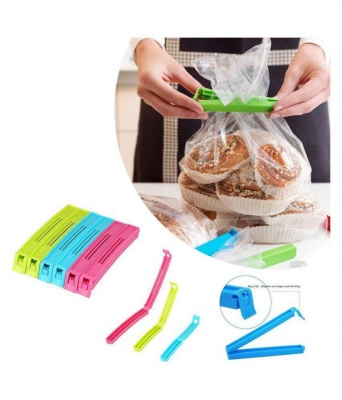 Plastic Food Snack Bag Pouch Clip Sealer, Multicolour