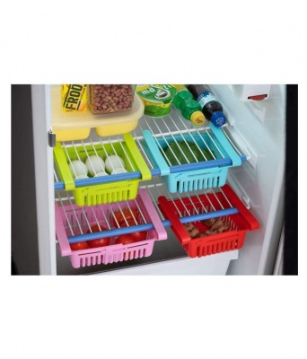 Holy Ratna 4 Pcs Fridge container Storage Unbreakable Drawer Multicolor Multicolor