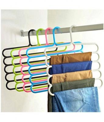 MULTILAYER MULTIPURPOSE CLOTH HANGER Set of 5 - RANDOM COLOR