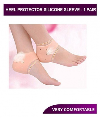 Anti Crack Heel Silicon Socks ( Pack of 2 ) Free Size