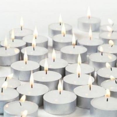 Holy Ratna White wax Pack of 25 TEALIGHT Candles