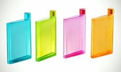 excel karts Plastic Notebook Water Bottle, 380ml, Multicolour