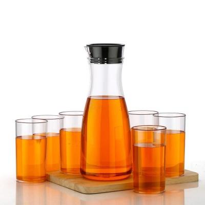 Combo Set - Transparent Unbreakable Water Juice Jug and 6 pcs Glass Brand holy ratna
