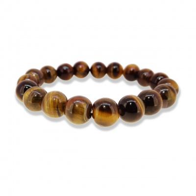 Holy Ratna Certified Healing Natural Yellow 8 mm Stone Tiger Eye Bracelet