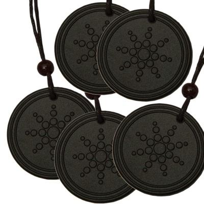 Dream Value Black Scalar Energy Quantum Science Fusion Lava Stone Pendant for Men and Women (Pack of 5)