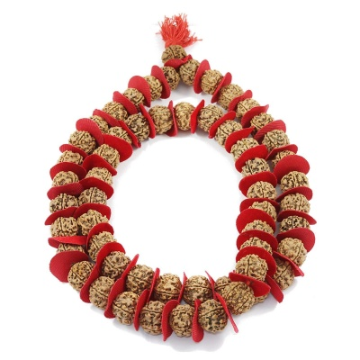 Holy Ratna 5 Mukhi Rudraksha Kantha Mala/Guru Siddha Mala, 54+1 Nepali Rudrakash, Bead Size: 18-20mm For Men and Women