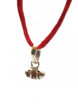 Holy Ratna 1 Mukhi Rudraksha (Real Rudraksha Seed - Indonesian Origin) Made in Pure Silver
