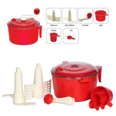 Dewberries Plastic Manual Automatic Atta Roti Dough Maker Red for ...
