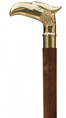 Holy Ratna Eagle Walking Stick -Wooden Cane Walking Stick for Men and Women 36 inches Brown