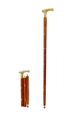 Holy Ratna Handmade Walking Stick -Wooden Cane Walking Stick for Men and Women 36 inches Brown