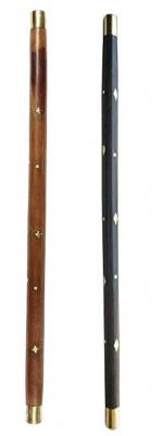 Holy Ratna Wooden Morning Walking Swagger Sticks Black - Pack of 2